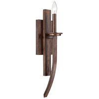 Savoy House Saitama 1 Light Sconce in Dark Wood and Guilded Bronze 9-5208-1-327