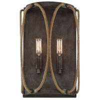 Keating 2 Light 9 inch Artisan Rust Sconce Wall Light