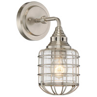 Connell 1 Light 6 inch Satin Nickel Sconce Wall Light