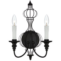 Savoy House Abagail 2 Light Sconce in Forged Black 9-6012-2-17 photo thumbnail