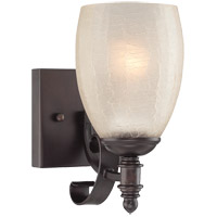 Duvall 1 Light 5 inch English Bronze Sconce Wall Light in Cream Crackle