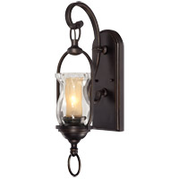 Shadwell 1 Light 6 inch English Bronze with Gold Sconce Wall Light