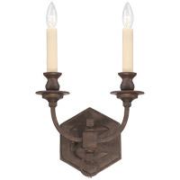 Savoy House Bastille 2 Light Wall Sconce in Heritage Bronze 9-6743-2-117