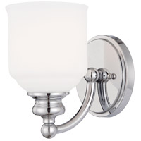 Savoy House 9-6836-1-11 Melrose 1 Light 5 inch Polished Chrome Bath Sconce Wall Light
