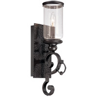 Savoy House Highlands 1 Light Wall Sconce in Forged Black 9-6983-1-17