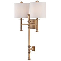 Devon 2 Light 18 inch Warm Brass Wall Sconce Wall Light