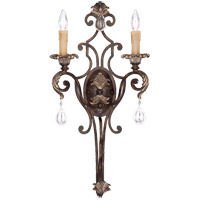 Chinquapin 2 Light 14 inch Moroccan Bronze Wall Sconce Wall Light