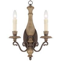 Mallory 2 Light 13 inch Fossil Stone Sconce Wall Light