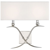 Payton 2 Light 16 inch Polished Nickel Sconce Wall Light