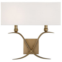 Payton 2 Light 16 inch Warm Brass Sconce Wall Light
