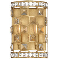Clarion 2 Light 8 inch Gold Bullion Sconce Wall Light
