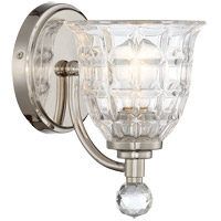 Savoy House 9-880-1-109 Birone 1 Light 6 inch Polished Nickel Wall Sconce Wall Light