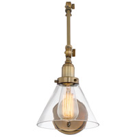 Drake 34 inch 60 watt Warm Brass Adjustable Sconce Wall Light