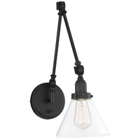Savoy House 9-9131CP-1-89 Drake 1 Light 7 inch Matte Black Wall Sconce Wall Light