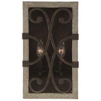 Savoy House 9-9180-2-101 Amador 2 Light 8 inch Noblewood with Iron Sconce Wall Light