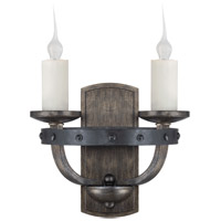 Alsace 2 Light 12 inch Reclaimed Wood Sconce Wall Light