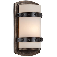 Alsace 1 Light 6 inch Reclaimed Wood ADA Sconce Wall Light in White Etched