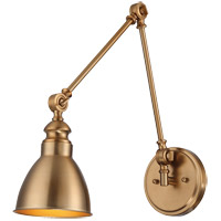 Dakota 34 inch 100 watt Warm Brass Adjustable Sconce Wall Light