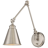 Morland 13 inch 100 watt Polished Nickel Adjustable Sconce Wall Light, with Plug