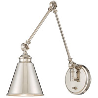 Savoy House 9-961CP-1-109 Morland 1 Light 6 inch Polished Nickel Sconce Wall Light, Adjustable