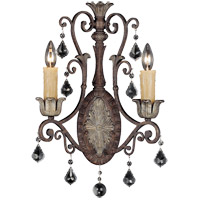 Savoy House 9P-1557-2-8 Elizabeth 2 Light 8 inch New Tortoise Shell/Silver Sconce Wall Light photo thumbnail