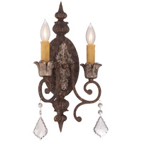 Elizabeth 2 Light 10 inch New Tortoise Shell with Silver ADA Sconce Wall Light