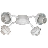 Savoy House Fitter 4 Light Fan Light Kit in White FLC419-WH