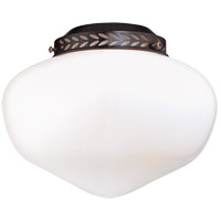 School House 1 Light CFL English Bronze Fan Light Kit in White Opal