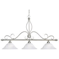 Polar 3 Light 48 inch Pewter Trestle Ceiling Light