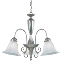 Savoy House KP-1-5002-3-69 Spirit 3 Light 22 inch Pewter Chandelier Ceiling Light in White Marble photo thumbnail
