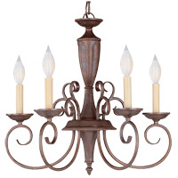 Savoy House KP-1-5005-5-40 Liberty 5 Light 20 inch Walnut Patina Chandelier Ceiling Light