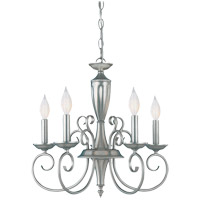 Spirit 5 Light 20 inch Pewter Chandelier Ceiling Light