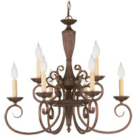 Liberty 9 Light 24 inch Walnut Patina Chandelier Ceiling Light