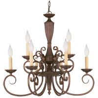 Savoy House KP-1-5007-9-40 Liberty 9 Light 24 inch Walnut Patina Chandelier Ceiling Light