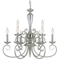 Savoy House KP-1-5007-9-69 Spirit 9 Light 24 inch Pewter Chandelier Ceiling Light