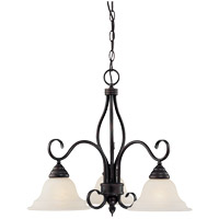 Oxford 3 Light 23 inch English Bronze Chandelier Ceiling Light