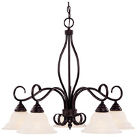 Oxford 5 Light 29 inch English Bronze Chandelier Ceiling Light
