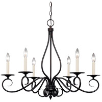 Savoy House KP-103-6-13 Oxford 6 Light 25 inch English Bronze Chandelier Ceiling Light