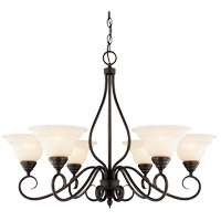 Oxford 6 Light 33 inch English Bronze Chandelier Ceiling Light