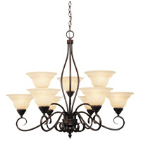Oxford 9 Light 34 inch English Bronze Chandelier Ceiling Light in Cream Faux Alabaster