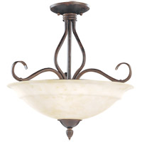 Savoy House Bryce 3 Light Semi-Flush in Sunset Bronze KP-111-3-91