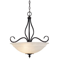 Oxford 3 Light 19 inch English Bronze Pendant Ceiling Light