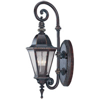 Savoy House Canterbury 3 Light Outdoor Wall Lantern in Bark and Gold KP-5-200-52