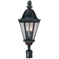 Savoy House Canterbury 4 Light Outdoor Post Lantern in Bark and Gold KP-5-202-52