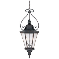Savoy House Canterbury 3 Light Outdoor Hanging Lantern in Bark and Gold KP-5-208-52