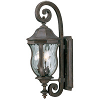 Monticello 3 Light 28 inch Walnut Patina Outdoor Wall Lantern