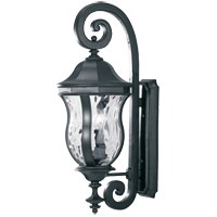 Monticello 3 Light 28 inch Black Outdoor Wall Lantern
