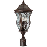 Monticello 3 Light 23 inch Walnut Patina Outdoor Post Lantern