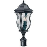Savoy House Monticello 3 Light Outdoor Post Lantern in Black KP-5-301-BK