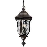 Monticello 3 Light 10 inch Walnut Patina Outdoor Hanging Lantern